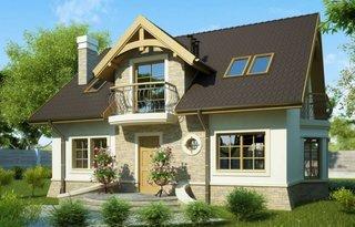 Casa cu balcoane din fier forjat