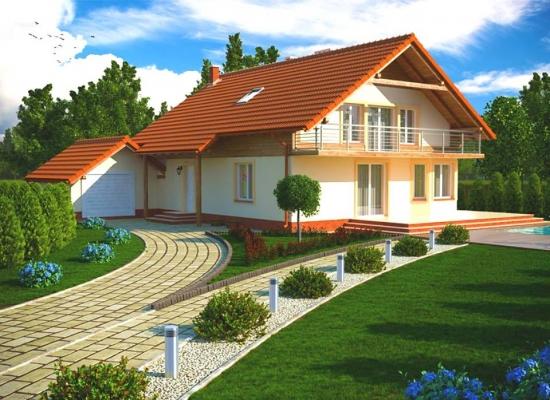 Casa cu balcon pe toata suprafata fatadei for Modificare casa