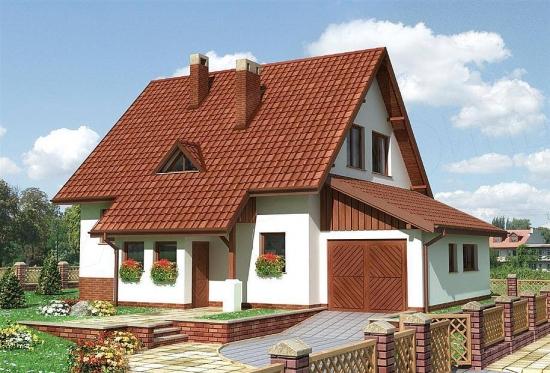 Casa traditionala cu acoperis cu panta mare
