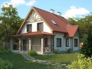 Model de acoperis in doua ape pentru casa mansardata