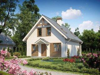 Proiect de casa mica cu mansarda fara garaj