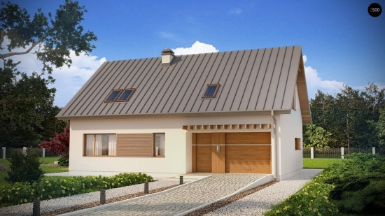 Proiect de casa simpla cu mansarda