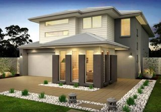 Casa contemporana cu garaj