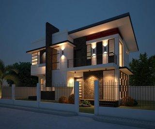 Casa moderna cu etaj si acoperis plat