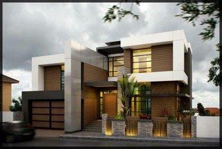Casa moderna cu ferestre mari