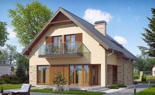 Model de casa cu balcon cu sticla