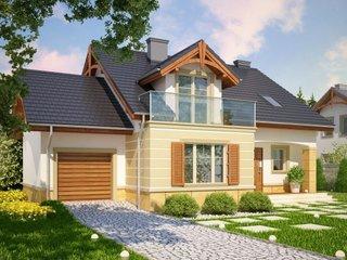 Model de casa cu balcon din sticla