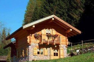 Cabana mica din lemn si piatra