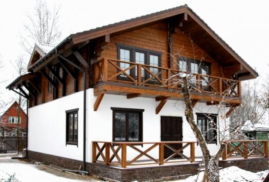 Casa pe structura de lemn for Foto case americane