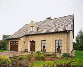 Fatada casa placata cu caramida aparenta