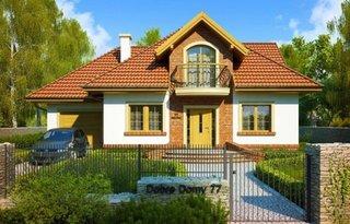 Perete fatada casa placat cu caramida