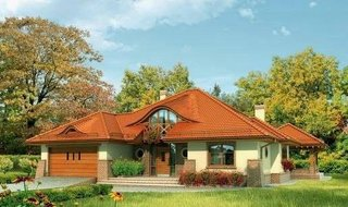 Proiect casa cu garaj dublu