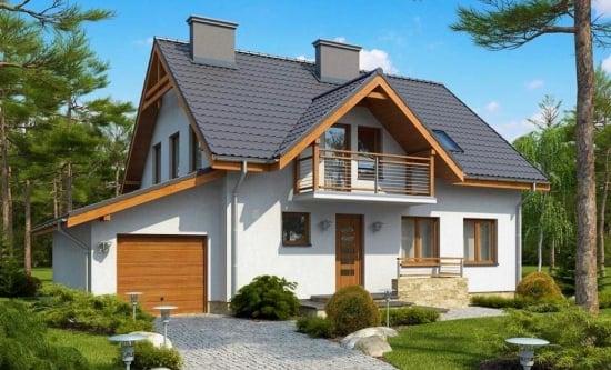 Proiect de casa cu garaj in lateral