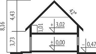 Casa inalta de 8 metri