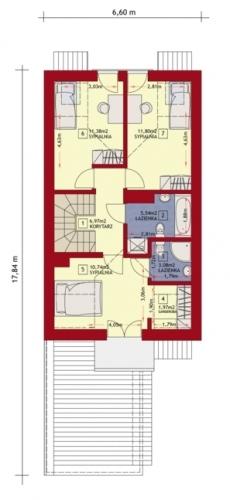 Etaj casa ingusta cu 3 dormitoare si 2 bai