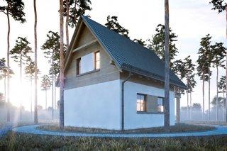 Model casa cu etaj ingusta