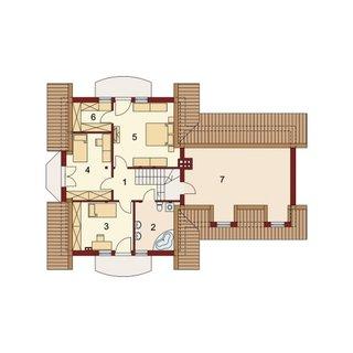 Casa cu 3 dormitoare la etaj
