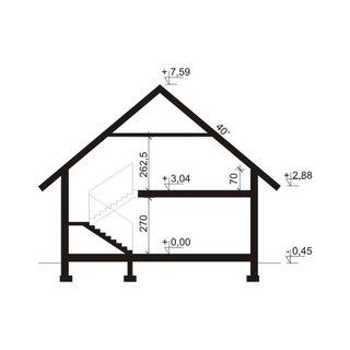Cote de inaltime casa cu etaj mansardat