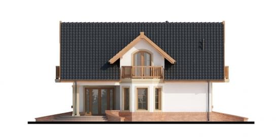 Elevatie laterala balcon lemn