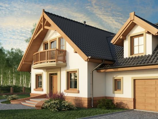 Garaj integrat in proiect casa