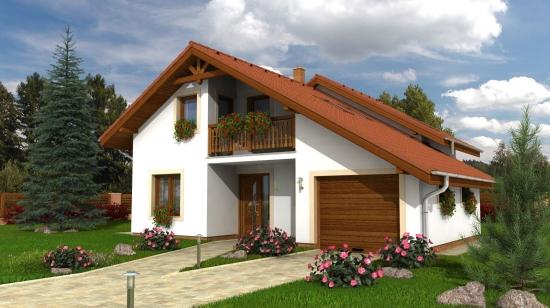Proiect casa cu garaj integrat for Proiecte case cu garaj