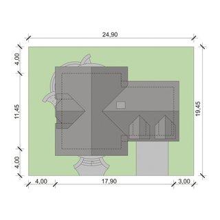 Proiect de casa in forma de T
