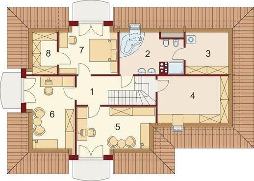 3 dormitoare la etaj si baie 2