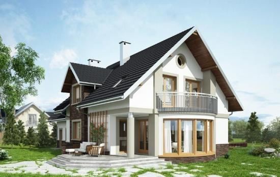 Casa cu balcon rotund 3