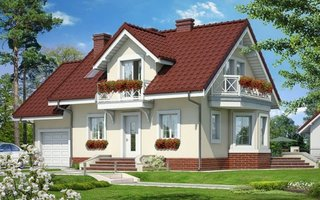 Casa cu ferestre si usi albe