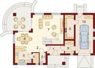 Casa cu garaj integrat 2
