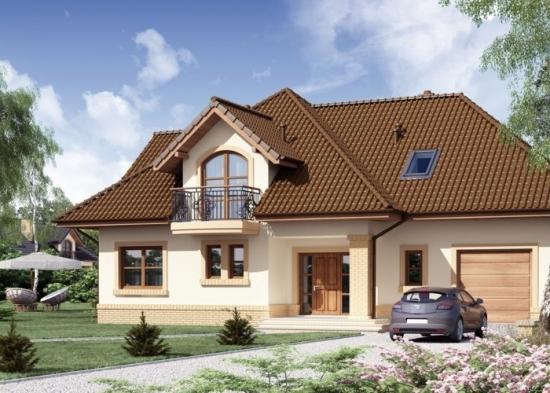 Casa cu mansarda  inalta si garaj 2