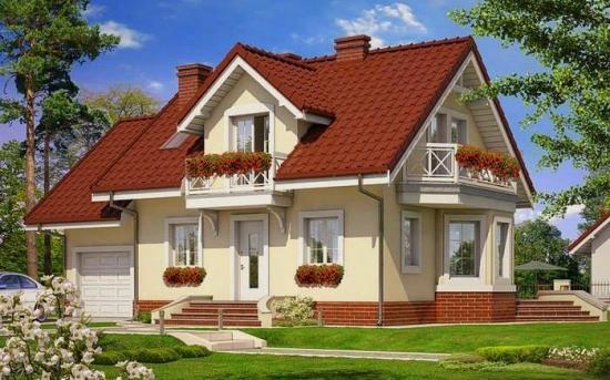 Case cu mansarda si garaj pana in 200 mp - 3 proiecte interesante