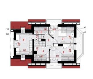 Plan etaj idee distribuire camere