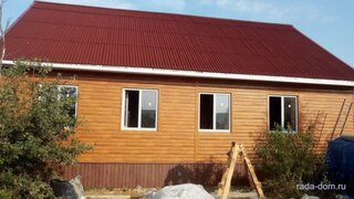 Casa din baloti de paie si structura de lemn