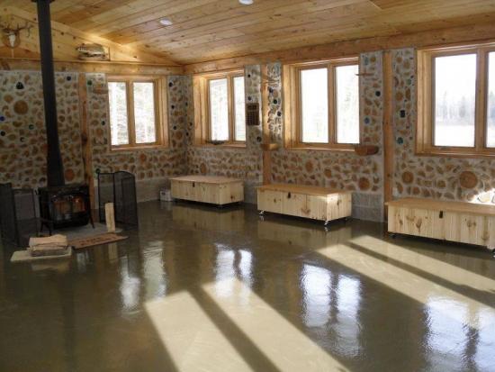 Cabana din lemn design interior