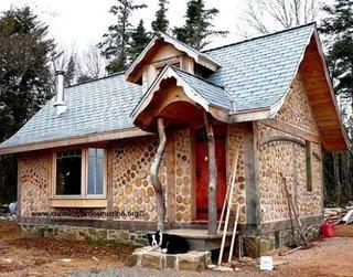 Casa din busteni taiati