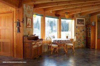 Interior casa din busteni taiati