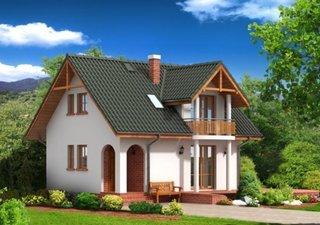 Casa mica pe structura lemn tencuita