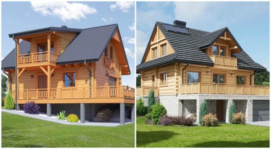 Case din lemn si piatra - modele si proiecte pentru locuinte originale