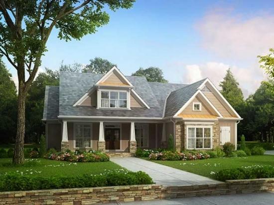 Casa din lemn cu placaje de piatra