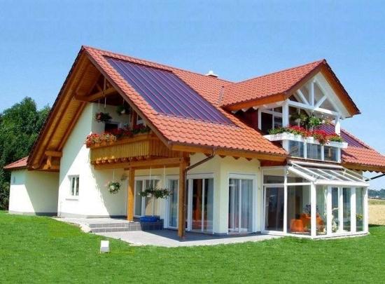 Model frumos de casa cu un nivel