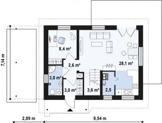 11.Parter casa de 7 pe 10 metri