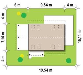 13.Casa amplasata pe lot de 15 metri deschidere