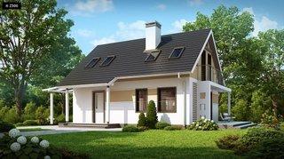 1.Casa cu mansarda si intrare acoperita