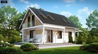 2.Model casa economica cu mansarda