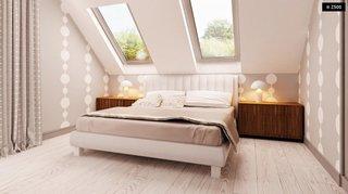 7.Dormitor cu pat dubla amenajat la mansarda