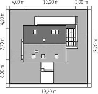 Casa cu amprenta 7.70 pe 12.20