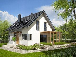 Model casa mica cu mansarda