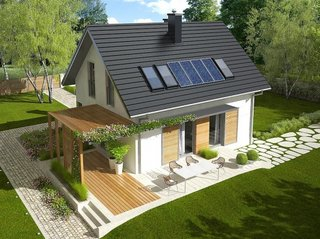 Proiect casa cu mansarda moderna
