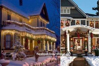 Cele mai frumoase case decorate pentru Craciun